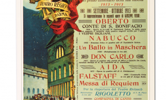 POSTER OF THE CELEBRATIONS FOR THE VERDIAN CENTARY OF 1913