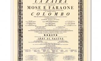 INAUGURAL POSTER FOR THE TEATRO REGIO DI PARMA 1829